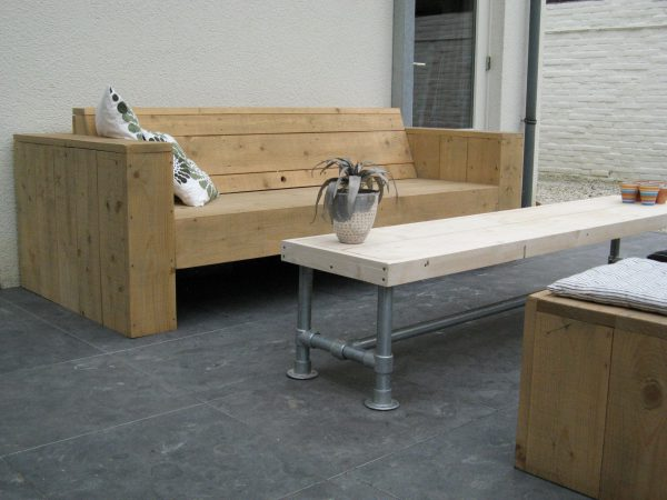 Steigerbuis bankje/tafel GSD-COLLECTION-429