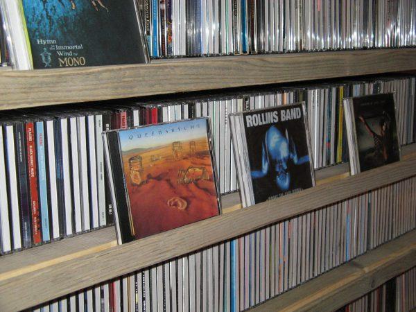 cd-rack van steigerbuis en steigerhout-0